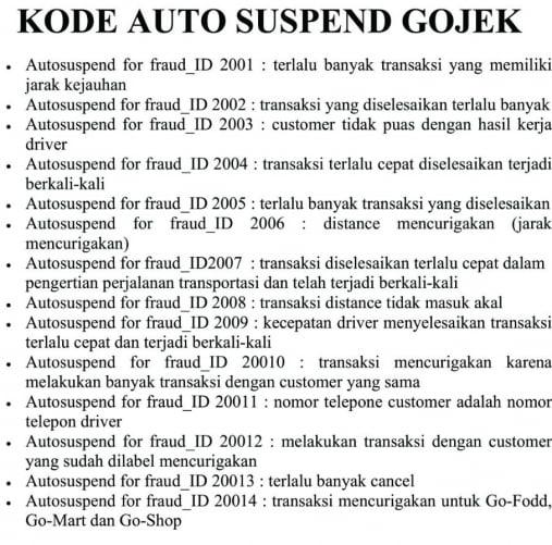 Ciri-Ciri Akun Gojek Kena Suspend Permanen (PENGALAMAN)